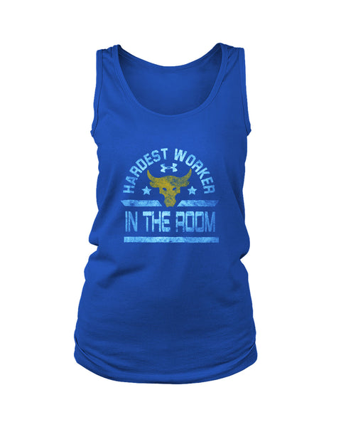 Hardest Worker In The Room The Rock Under Armour Project Grunge Women's Tank Top
