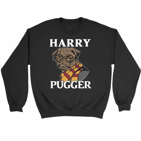 Harry Pugger Cute Dog With Scarf Harry Potter Funny Parody Sweatshirt