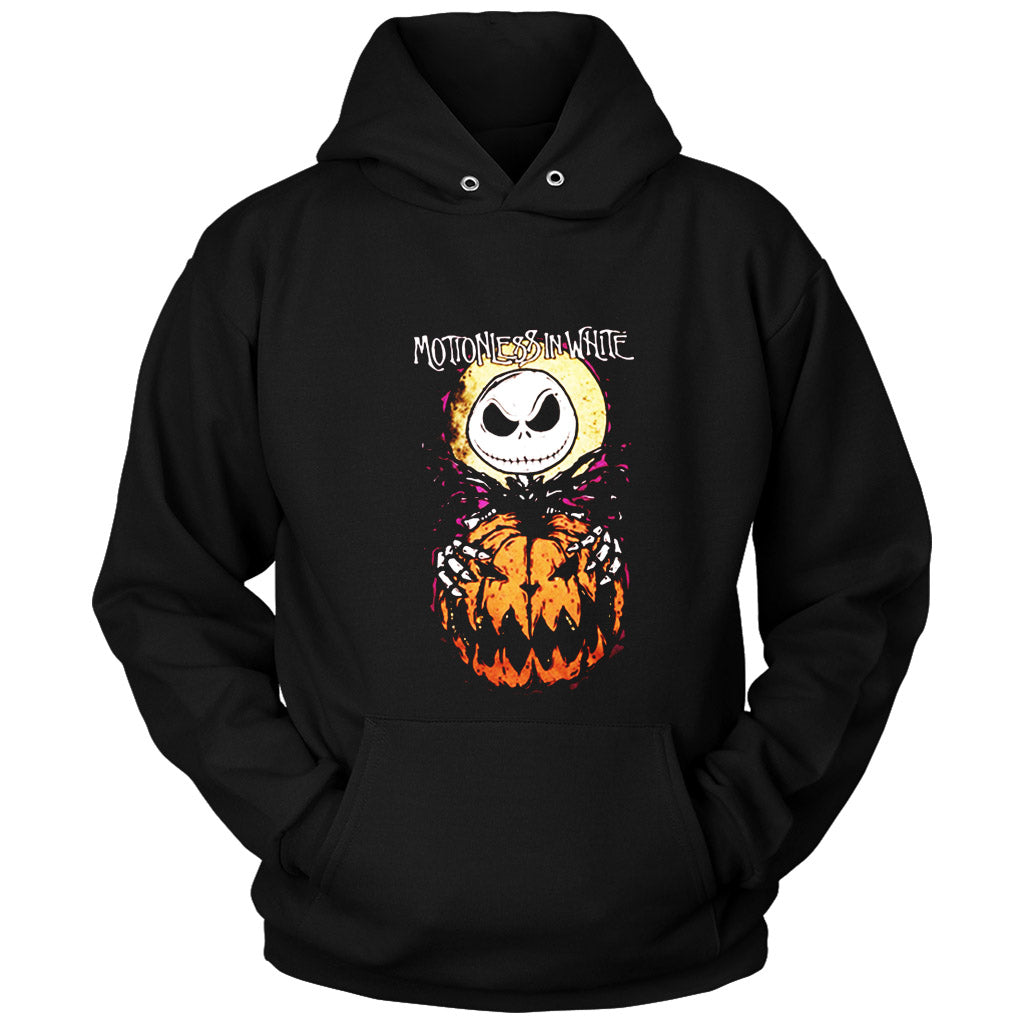 Jack Skellington The Nightmare Before Christmas Motionless In White Halloween Everyday Unisex Hoodie