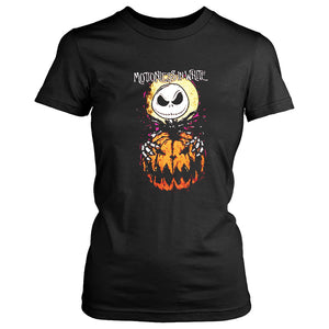 Jack Skellington The Nightmare Before Christmas Motionless In White Halloween Everyday Women's T-Shirt