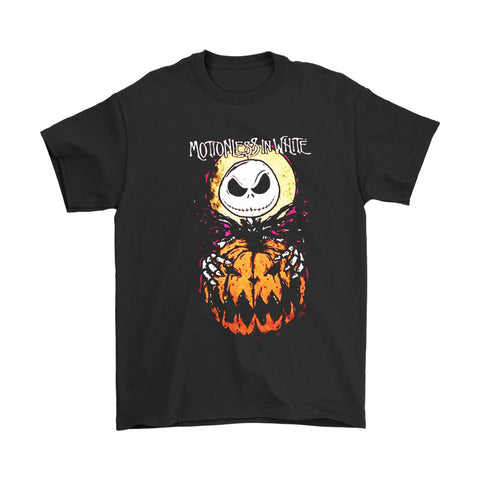 Jack Skellington The Nightmare Before Christmas Motionless In White Halloween Everyday Men's T-Shirt