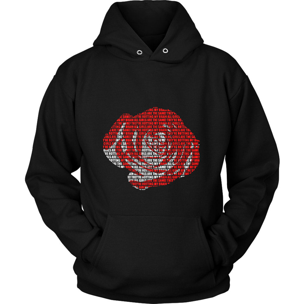 Juice Wrld All Girls Are The Same Rose Unisex Hoodie