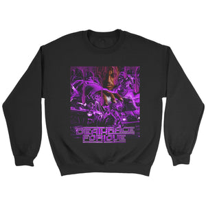 Juice Wrld Death Race For Love V2 Purple Cover Sweatshirt