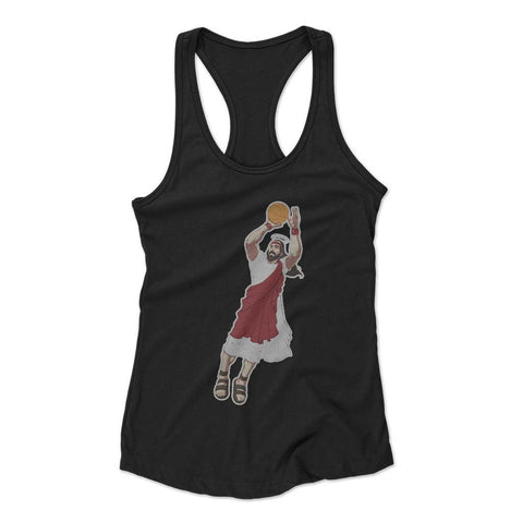 Jumpshot Jesus Woman's Racerback Tank Top