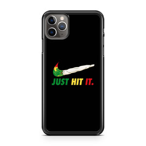 Just Hit It Nike Parody Cannabis iPhone 11 Pro Max Case