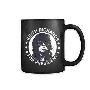 Keith Richards For President The Rolling Stones Legend 11oz Mug