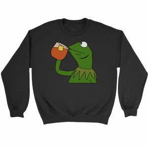 Kermit The Frog Sipping Tea Sweatshirt