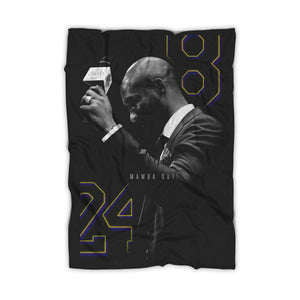 Kobe Bryant 8 24 Mamba Out Blanket