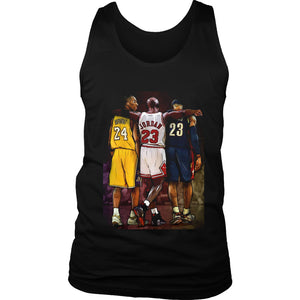 Kobe Bryant Michael Jordan Lebron James Men's Tank Top