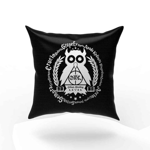 Learn Your Spells Geek Harry Potter Owl Pillow Case Cover