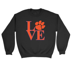 Love Clemson Tiger Sweatshirt