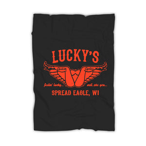 Luckys Custom Motorcycle Funny Harley Motorcycle Biker Shirts Offensive Rude Cool Graphic Tee Indian Sturgis Bar Inappropriate Humor Blanket
