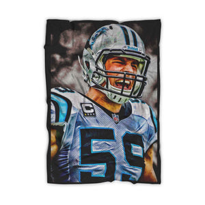 Luke Kuechly Carolina Panthers Blanket