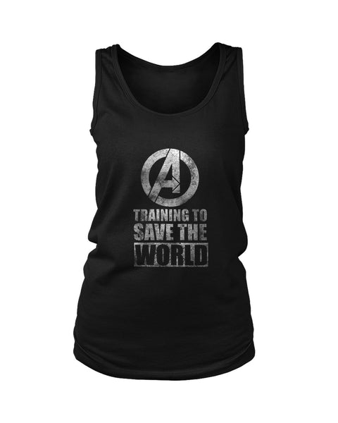 Marvel Avengers Training To Save World Grunge Women's Tank Top