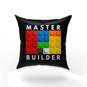 Master Builder Lego Pillow Case Cover