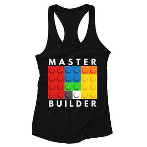 Master Builder Lego Woman's Racerback Tank Top