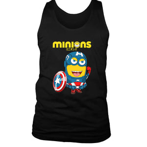 Minions Captain America Men's Tank Top