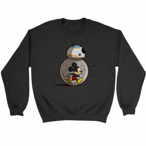 Mm8 Star Wars Bb8 Disney Or Mickey Mouse Lovers Sweatshirt