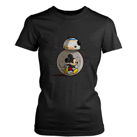 Mm8 Star Wars Bb8 Disney Or Mickey Mouse Lovers Women's T-Shirt