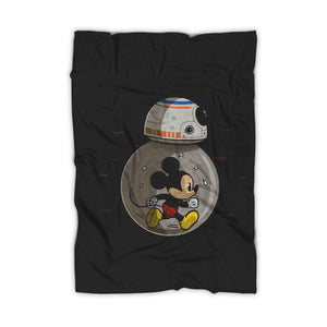 Mm8 Star Wars Bb8 Disney Or Mickey Mouse Lovers Blanket