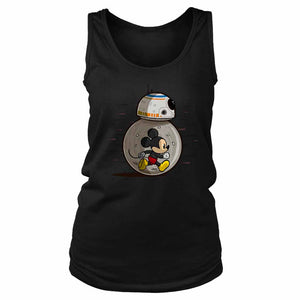 Mm8 Star Wars Bb8 Disney Or Mickey Mouse Lovers Women's Tank Top