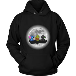 Moon Cute Babies Stitch Yoda Toothless Unisex Hoodie