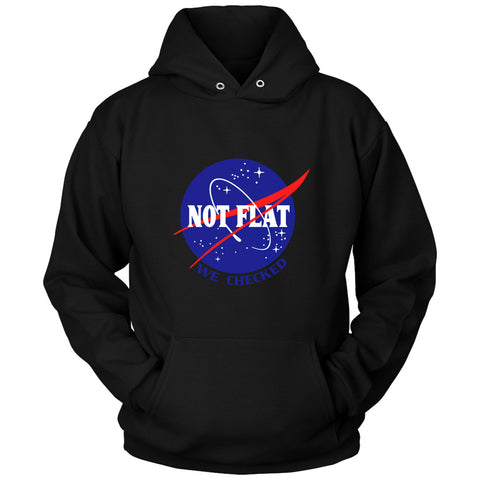 Nasa We Checked Not Flat Unisex Hoodie