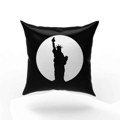 New York City Circle Statue Of Liberty Pillow Case Cover