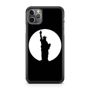 New York City Circle Statue Of Liberty iPhone Case
