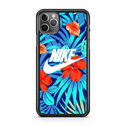 Nike Blue Floral Pattern iPhone Case