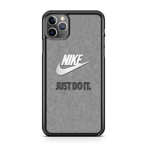 Nike Just Do It Metal Pattern iPhone Case