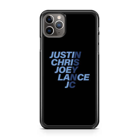 Nsync Justin Chris Joey Lance Jc iPhone 11 Pro Max Case