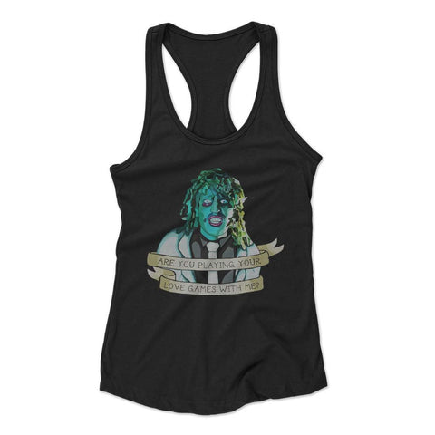 Old Gregg Love Games Woman's Racerback Tank Top