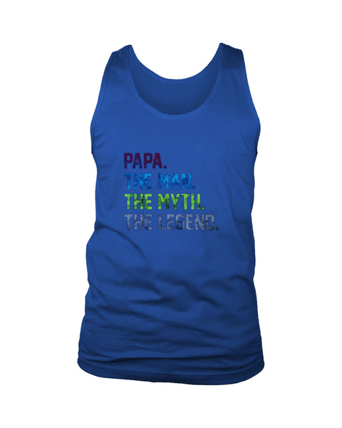 Papa The Man The Myth The Legend Men's Tank Top