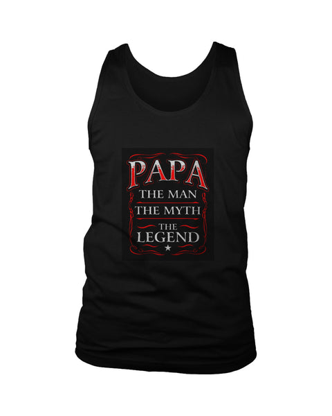 Papa The Man The Myth The Legend Poster Men's Tank Top