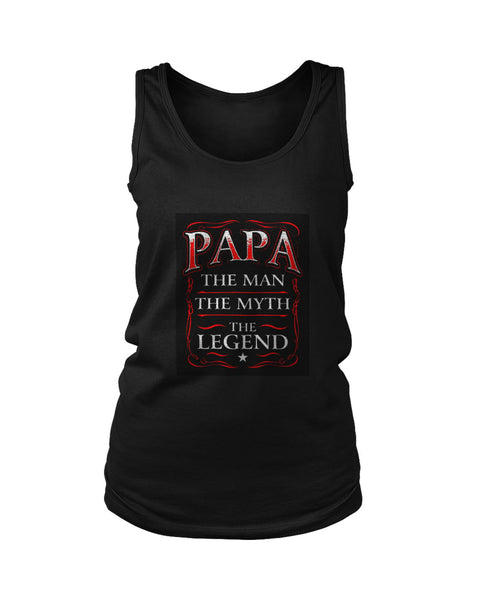 Papa The Man The Myth The Legend Poster Women's Tank Top