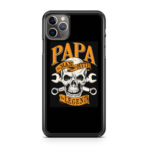 Papa The Man The Myth The Legend Skull iPhone 11 Pro Max Case