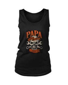 Papa The Man The Myth The Legend Skull Poster Women's Tank Top