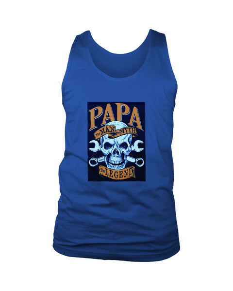 Papa The Man The Myth The Legend Skull Poster Men's Tank Top