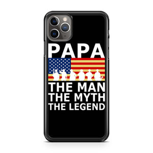 Papa The Man The Myth The Legend United States Army iPhone 11 Pro Max Case