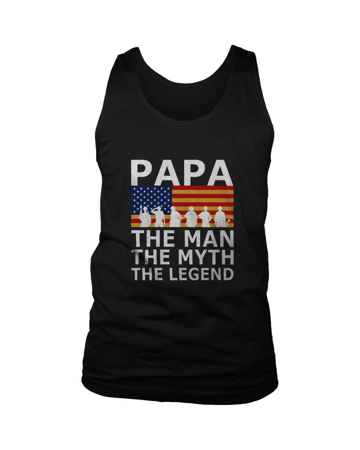 Papa The Man The Myth The Legend United States Army Men's Tank Top
