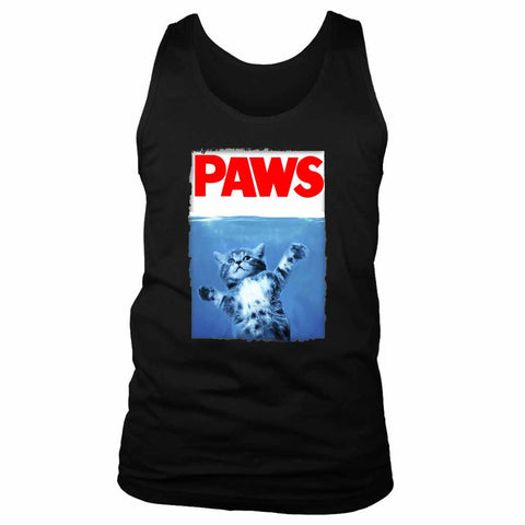 Paws Jaws Movie Kitten Kitty Cat Men's Tank Top