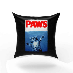 Paws Jaws Movie Kitten Kitty Cat Pillow Case Cover