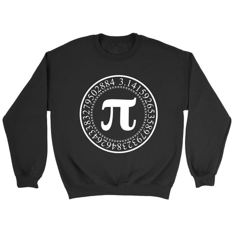 Pi Circular Digits Numbers Math Sweatshirt