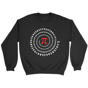 Pi Spiral Irrational Number Mathematics Sweatshirt