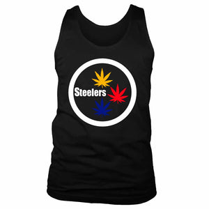 Pittsburgh Steelers Stoner Pot Leaf Men's Tank Top