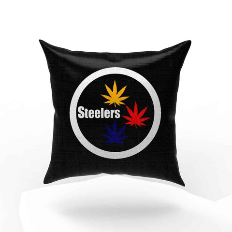 Pittsburgh Steelers Stoner Pot Leaf Pillow Case Cover