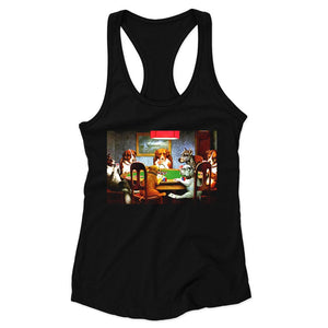 Pokers Dogs By C M Coolidge Woman's Racerback Tank Top
