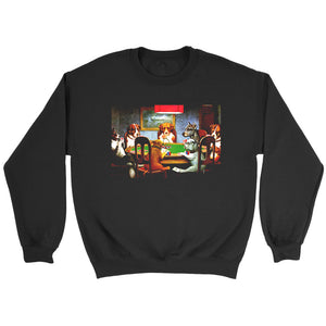 Pokers Dogs By C M Coolidge Sweatshirt