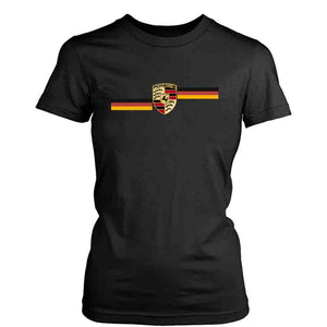 Porsche Retro Logo Stripe Women's T-Shirt